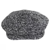Skully Marl Tweed Wool Newsboy Cap alternate view 6