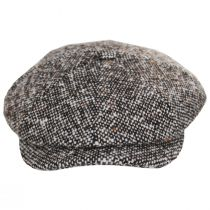 Skully Marl Tweed Wool Newsboy Cap alternate view 2
