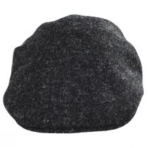 Boris Harris Tweed Wool Ascot Cap - Charcoal alternate view 2