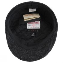 Boris Harris Tweed Wool Ascot Cap - Charcoal alternate view 4