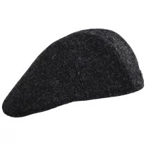 Boris Harris Tweed Wool Ascot Cap - Charcoal alternate view 7