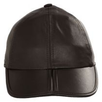 Split Bill Earflap Brown Leather Ball Cap alternate view 2