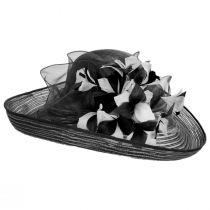 Flor Dela Mar Sinamay Straw Wide Brim Boater Hat alternate view 3
