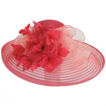 Flor Dela Mar Sinamay Straw Wide Brim Boater Hat alternate view 2