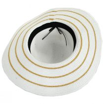 Metallic Sailor Knot Striped Straw Sun Hat alternate view 4
