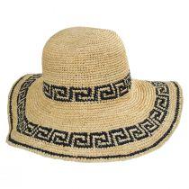 Greek Key Crochet Raffia Straw Sun Hat alternate view 2