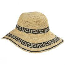 Greek Key Crochet Raffia Straw Sun Hat alternate view 3