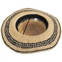 Greek Key Crochet Raffia Straw Sun Hat alternate view 4