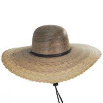 Palm Straw Scallop Brim Swinger Hat alternate view 2