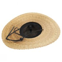 Palm Straw Scallop Brim Swinger Hat alternate view 4