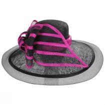 Jeltrim Sinamay Straw Big Brim Swinger Hat alternate view 2