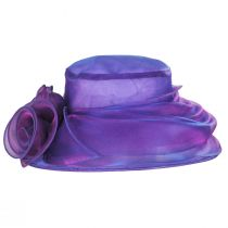Improbable Iridescent Organza Lampshade Hat alternate view 6