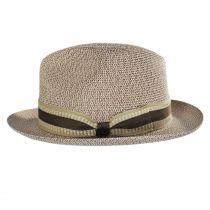 Monet Tweed Straw Braid Fedora Hat alternate view 15