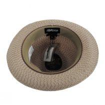 Monet Tweed Straw Braid Fedora Hat alternate view 16