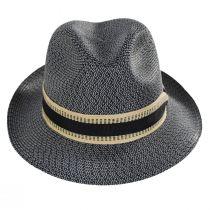Monet Tweed Straw Braid Fedora Hat alternate view 2