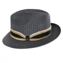 Monet Tweed Straw Braid Fedora Hat alternate view 3