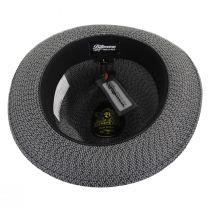 Monet Tweed Straw Braid Fedora Hat alternate view 4