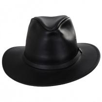 Leather Safari Fedora Hat alternate view 2