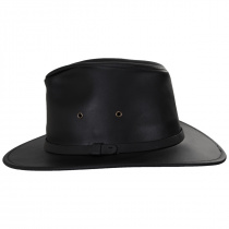 Leather Safari Fedora Hat alternate view 3