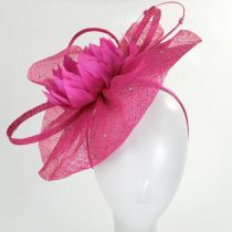Prestonia Rhinestone Sinamay Straw Fascinator Headband alternate view 3