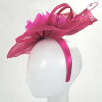 Prestonia Rhinestone Sinamay Straw Fascinator Headband alternate view 4