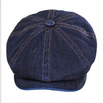 Texas Denim Cotton Newsboy Cap alternate view 6