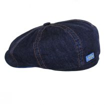 Texas Denim Cotton Newsboy Cap alternate view 7