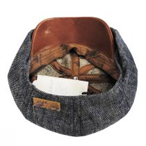 Linen, Silk, and Leather Newsboy Cap alternate view 4