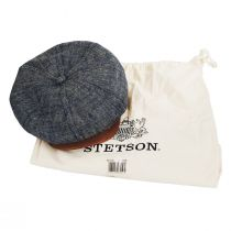 Linen, Silk, and Leather Newsboy Cap alternate view 5