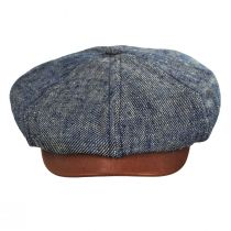 Linen, Silk, and Leather Newsboy Cap alternate view 7