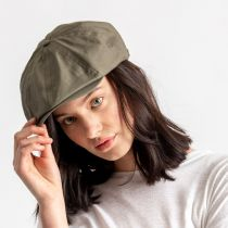 Brood Solid Ripstop Cotton Newsboy Cap alternate view 6
