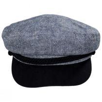 Tweed Cotton Linen Blend Fiddler Cap alternate view 2