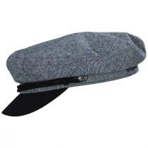 Tweed Cotton Linen Blend Fiddler Cap alternate view 3