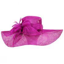 Wyandotte Sinamay Straw Boater Hat alternate view 2