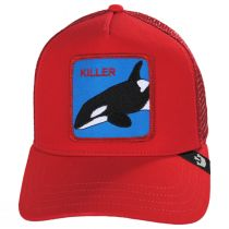 Killer Whale Mesh Trucker Snapback Baseball Cap alternate view 2