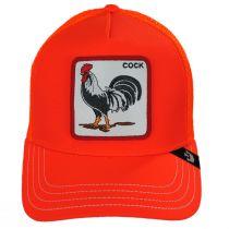 Big Strut Orange Mesh Trucker Snapback Baseball Cap alternate view 2