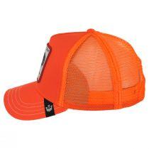 Big Strut Orange Mesh Trucker Snapback Baseball Cap alternate view 3