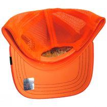 Big Strut Orange Mesh Trucker Snapback Baseball Cap alternate view 4