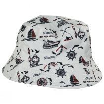 Kids' Nautical Reversible Cotton Bucket Hat alternate view 3