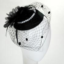 Velvet and Pearl Fascinator Hat alternate view 2