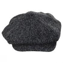 Carloway Harris Tweed Wool Herringbone Newsboy Cap alternate view 18