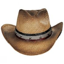 Star Spangled Toyo Straw Western Hat alternate view 6