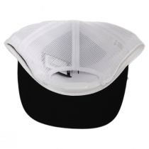 Black and White Palmer Mesh Trucker Snapback Baseball Cap alternate view 4
