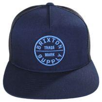 Oath III Navy Wash Mesh Trucker Snapback Baseball Cap alternate view 2