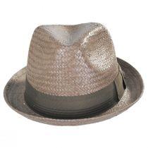 Castor Taupe Toyo Straw Fedora Hat alternate view 2
