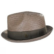 Castor Taupe Toyo Straw Fedora Hat alternate view 11
