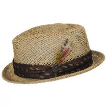 Stout Light Tan Twisted Toyo Straw Fedora Hat alternate view 3