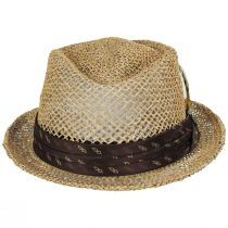 Stout Light Tan Twisted Toyo Straw Fedora Hat alternate view 6
