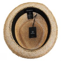 Stout Light Tan Twisted Toyo Straw Fedora Hat alternate view 16
