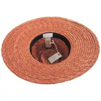 Joanna Terra Cotta Wheat Straw Fedora Hat alternate view 10